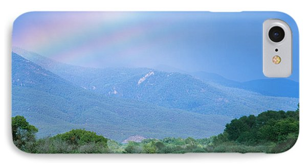 Rainbow Over A Mountain Range, Taos IPhone Case