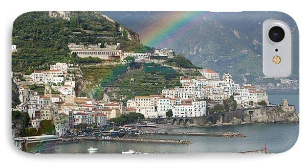 Rainbow Over A Town, Almafi, Amalfi IPhone Case