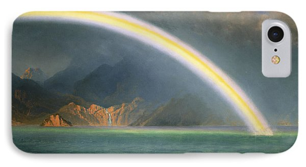 Rainbow Over Jenny Lake Wyoming IPhone Case by Albert Bierstadt