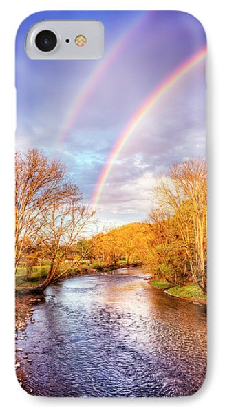 IPhone Case featuring the photograph Rainbow Over The River II by Debra and Dave Vanderlaan