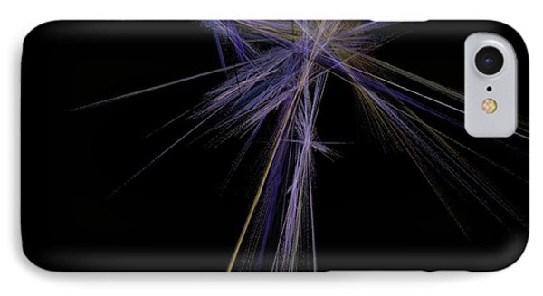 IPhone Case featuring the digital art Rainbow Palm by Sara  Raber