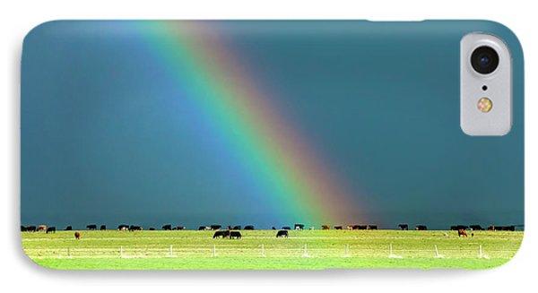 Rainbow Pasture IPhone Case by Todd Klassy