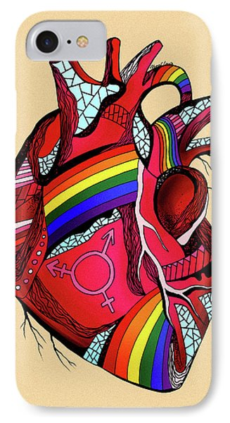 Rainbow Pride Heart IPhone Case by Kenal Louis
