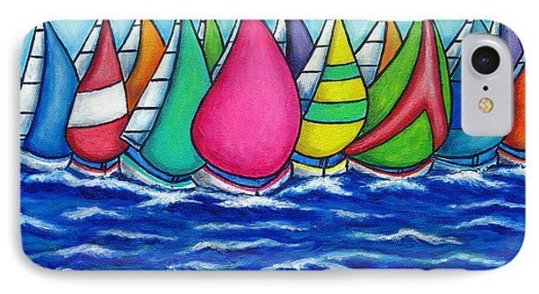 Rainbow Regatta Phone Case by Lisa  Lorenz