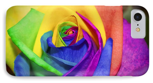 Rainbow Rose In Paint IPhone Case