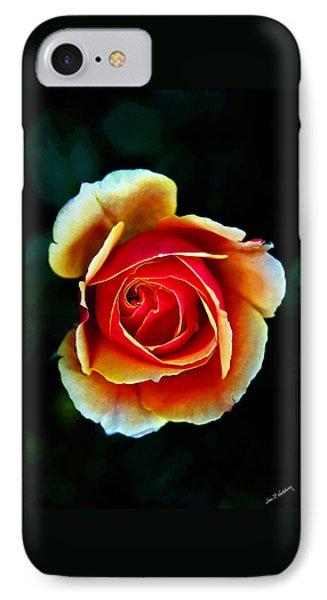 IPhone Case featuring the photograph Rainbow Rose by John Haldane