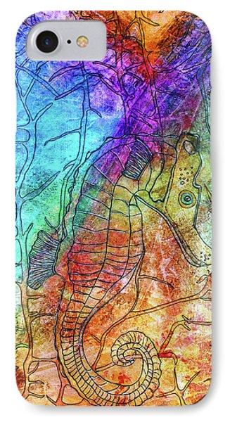 Rainbow Seahorse Phone Case by Janet Immordino