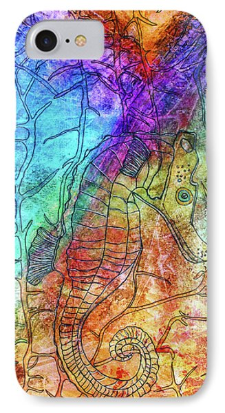 Rainbow Seahorse IPhone Case by Janet Immordino
