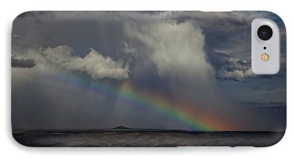 IPhone Case featuring the photograph Rainbow Storm Over The Verde Valley Arizona by Ron Chilston