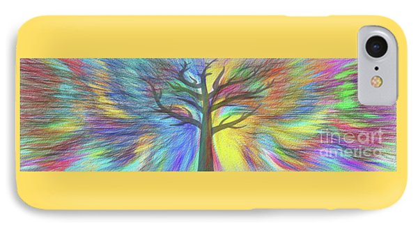 IPhone Case featuring the digital art Rainbow Tree By Kaye Menner by Kaye Menner