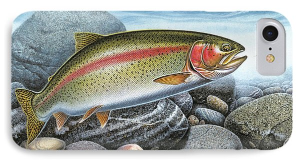 Rainbow Trout IPhone Case by Jon Wright
