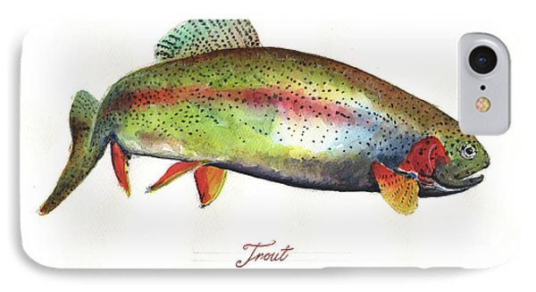 Rainbow Trout IPhone 7 Case by Juan Bosco