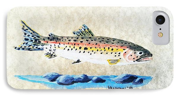 Rainbow Trout Watercolor Painting IPhone Case