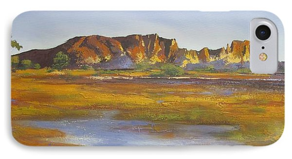 IPhone Case featuring the painting Rainbow Valley Northern Territory Australia by Chris Hobel