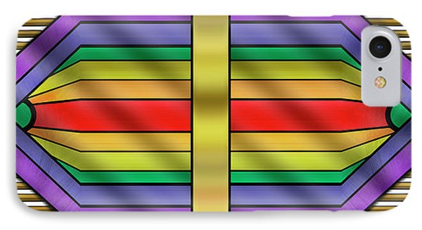 IPhone Case featuring the digital art Rainbow Wall Hanging Horizontal by Chuck Staley