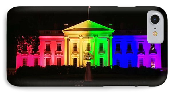 Rainbow White House IPhone Case by Chris Montcalmo
