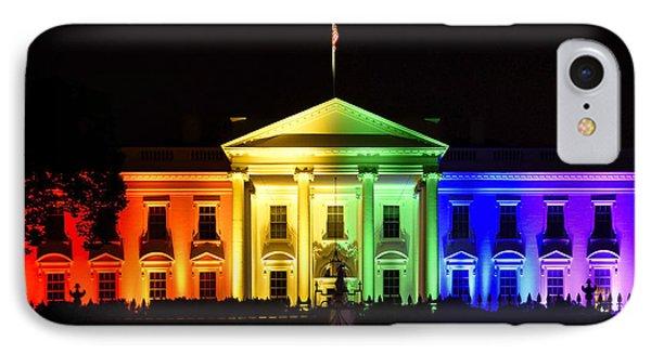 Rainbow White House  - Washington Dc IPhone 7 Case by Brendan Reals