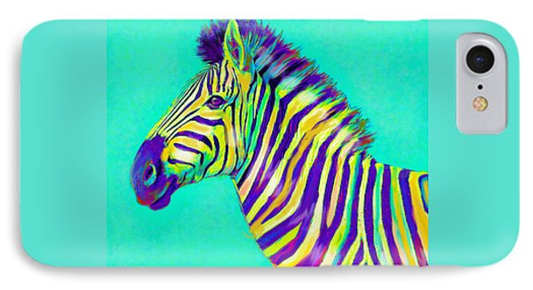 Rainbow Zebra 2013 IPhone 7 Case by Jane Schnetlage