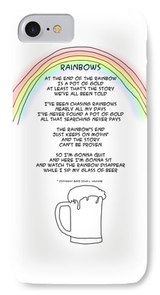 IPhone Case featuring the drawing Rainbows by John Haldane