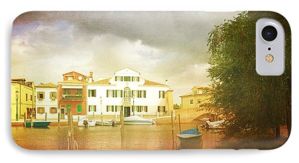 IPhone Case featuring the photograph Raincloud Over Malamocco by Anne Kotan