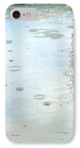 IPhone Case featuring the photograph Raindrop Abstract by Kae Cheatham