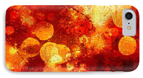 IPhone Case featuring the digital art Raindrops And Bokeh Abstract by Fine Art By Andrew David