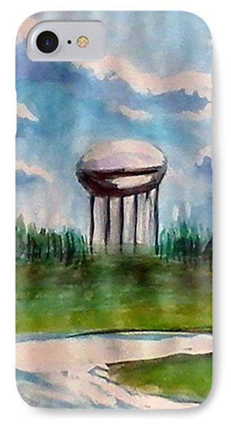 Raines Road Watertower IPhone Case by Loretta Nash