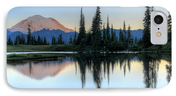 Rainier From Tipsoo IPhone Case by Peter Mooyman