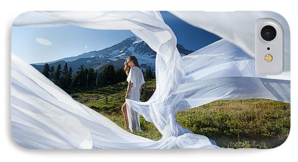 IPhone Case featuring the photograph Rainier Ribbons by Dario Infini