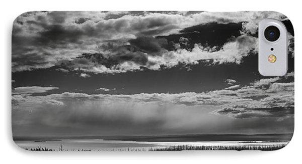 IPhone Case featuring the photograph Raining At Yellowstone Lake by Jason Moynihan