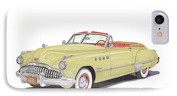 Rainman 1949 Buick Roadmaster IPhone Case by Jack Pumphrey
