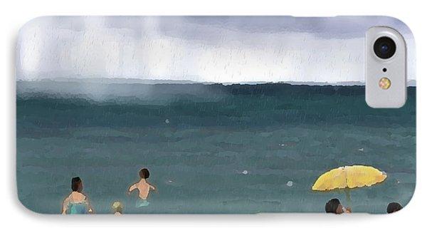 Rainy Beach Phone Case by Arline Wagner