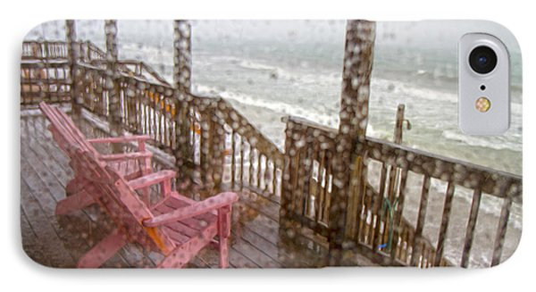 Rainy Beach Evening IPhone Case by Betsy Knapp