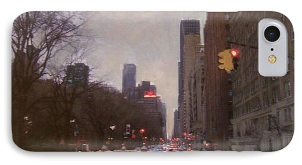 Rainy City Street Phone Case by Anita Burgermeister