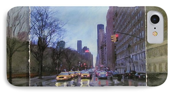 Rainy City Street Layered IPhone Case by Anita Burgermeister