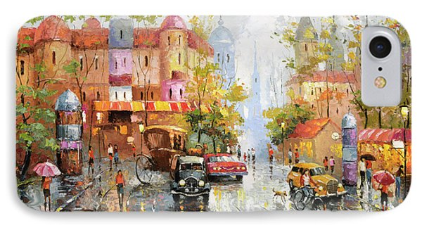 IPhone Case featuring the painting Rainy Day 3 by Dmitry Spiros