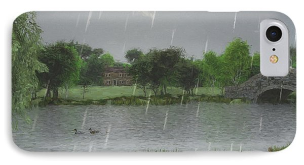 Rainy Day At The Lake IPhone Case by Jayne Wilson