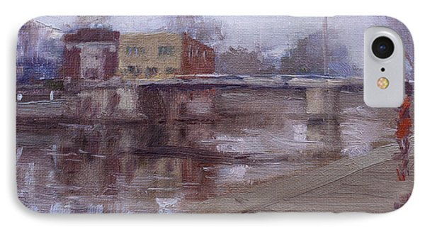 Rainy Day At Tonawanda Canal IPhone Case by Ylli Haruni