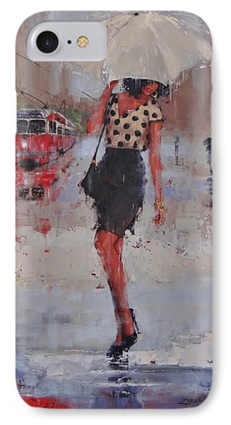 Rainy Day Blues IPhone Case by Laura Lee Zanghetti