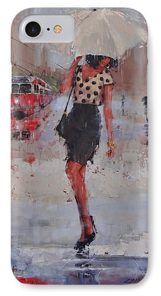 Rainy Day Blues IPhone Case by Laura Lee Zanghetti