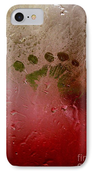 Rainy Day Hand Fist Footprint Phone Case by Anna Lisa Yoder