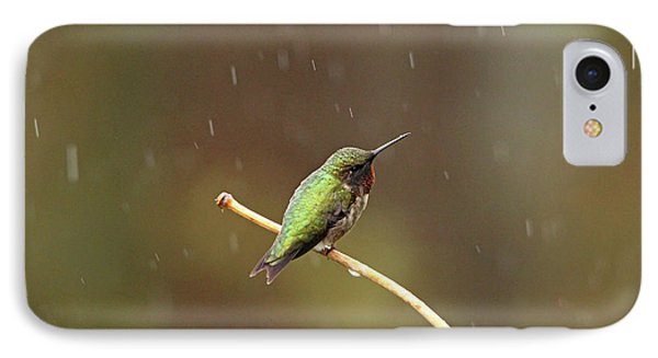 Rainy Day Hummingbird IPhone Case