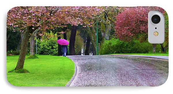 Rainy Day In The Park IPhone Case by Keith Boone