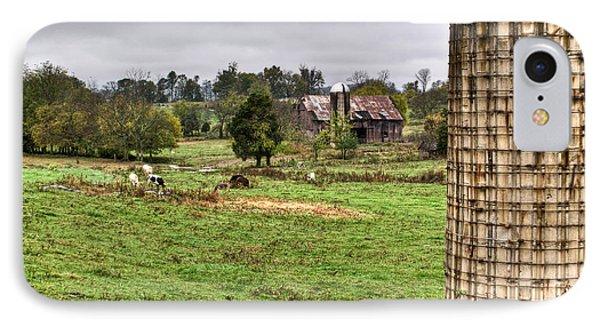Rainy Day On The Farm Phone Case by Douglas Barnett