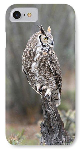 Rainy Day Owl IPhone Case