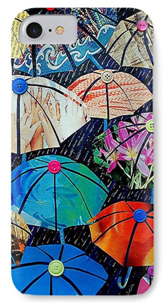 Rainy Day Personalities Phone Case by Susan DeLain