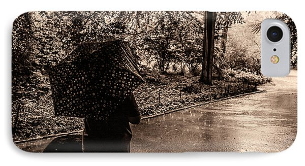 IPhone Case featuring the photograph Rainy Day - Woman And Dog by Madeline Ellis