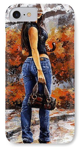 Rainy Day - Woman Of New York 14 IPhone Case by Emerico Imre Toth