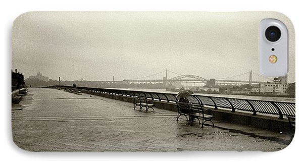 IPhone Case featuring the photograph Rainy Days Sepia by Dave Beckerman