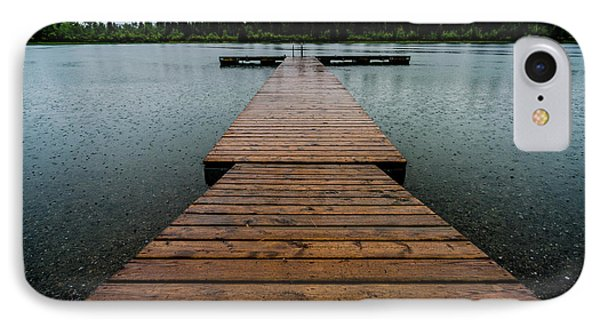 IPhone Case featuring the photograph Rainy Dock by Darcy Michaelchuk